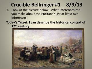Crucible Bellringer #18/9/13