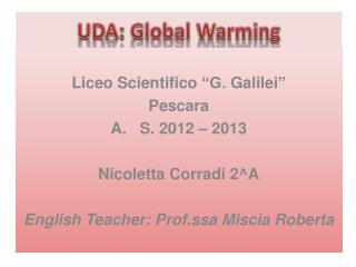 UDA: Global Warming