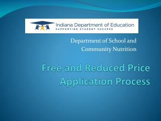 Free and Reduced Price Application Process