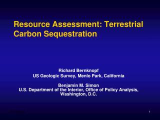 Resource Assessment: Terrestrial Carbon Sequestration