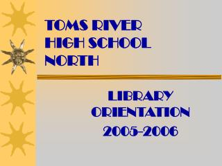 TOMS RIVER  HIGH SCHOOL  NORTH