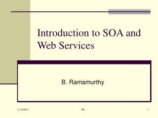 Introduction to SOA and Web Services