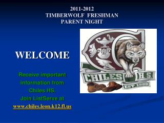 2011-2012 TIMBERWOLF  FRESHMAN  PARENT NIGHT