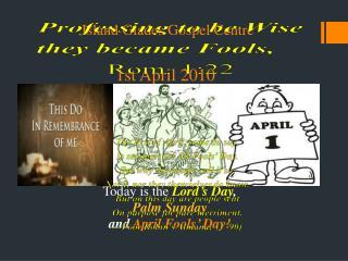 Island Glades Gospel Centre  1st April 2010