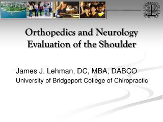 Orthopedics and Neurology Evaluation of the Shoulder