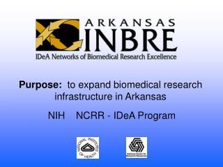 NIH    NCRR - IDeA Program