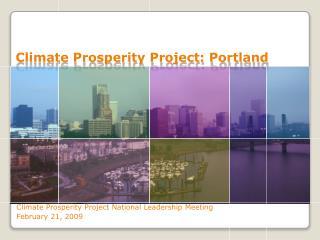 Climate Prosperity Project: Portland