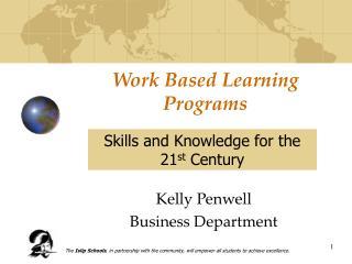 Work Based Learning Programs