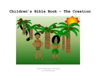 Children's Bible Book – The Creation