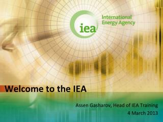 Welcome to the IEA