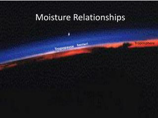 Moisture Relationships