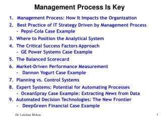Management Process Is Key