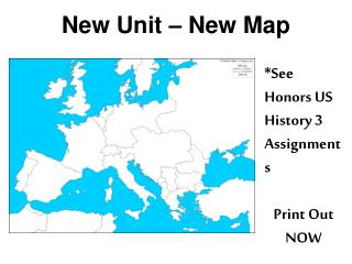 New Unit – New Map