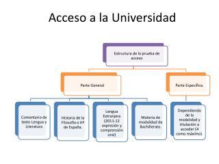 Acceso a la Universidad