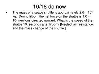 10/18 do now