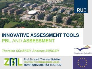 INNOVATIVE ASSESSMENT TOOLS PBL  AND  ASSESSMENT Thorsten SCHÄFER, Andreas BURGER