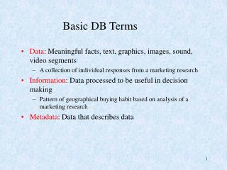 Basic DB Terms