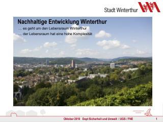 Nachhaltige Entwicklung Winterthur