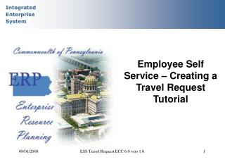 Employee Self Service – Creating a Travel Request Tutorial