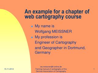 An example for a chapter of         web cartography course
