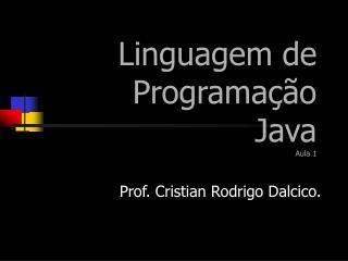 Linguagem de Programação  Java Aula 1