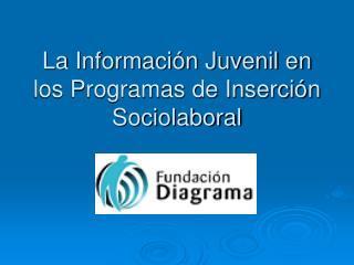 La Información Juvenil en los Programas de Inserción Sociolaboral