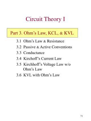 Circuit Theory I