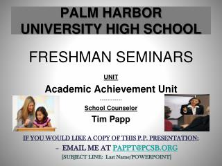 PALM HARBOR UNIVERSITY HIGH SCHOOL