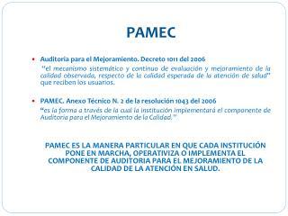 PAMEC