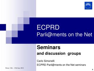 ECPRD Parli@ments on the Net