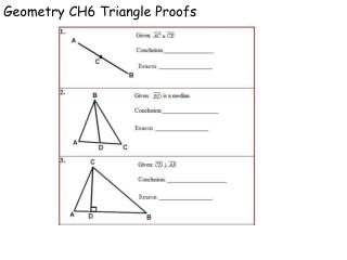 Geometry CH6 Triangle Proofs