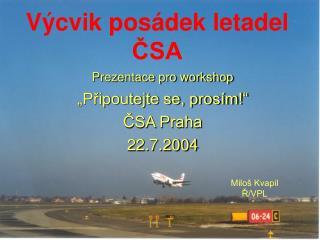 Výcvik posádek letadel ČSA