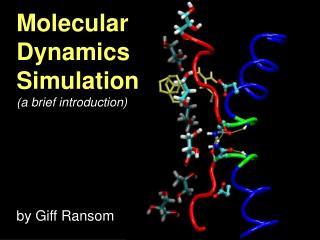 Molecular  Dynamics  Simulation (a brief introduction)