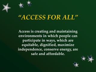 �ACCESS FOR ALL�