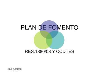 PLAN DE FOMENTO