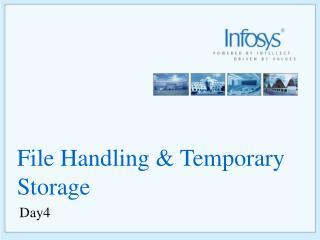 File Handling & Temporary Storage