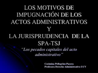 Cosimina Pellegrino Pacera Profesora Derecho Administrativo UCV