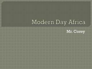 Modern Day Africa