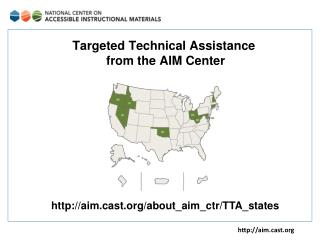 Targeted Technical Assistance  from the AIM Center