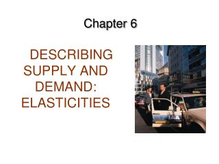 DESCRIBING SUPPLY AND DEMAND: ELASTICITIES