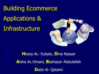 Building Ecommerce Applications  Infrastructure