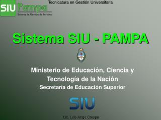 Sistema SIU - PAMPA