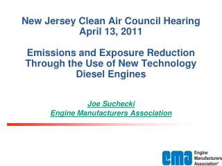 Joe Suchecki Engine Manufacturers Association