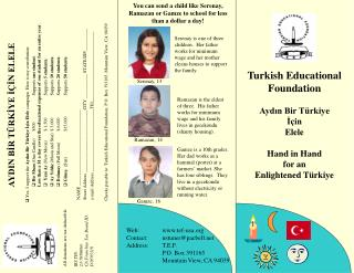 Turkish Educational Foundation Aydın Bir Türkiye İçin  Elele Hand in Hand for an