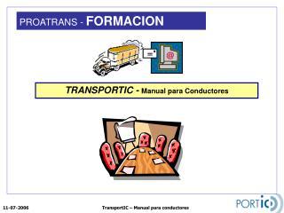 TRANSPORTIC -  Manual para Conductores