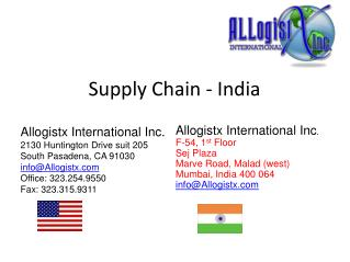 Supply Chain - India