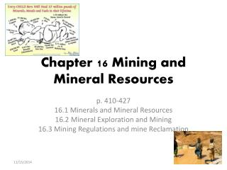 Chapter 16 Mining and Mineral Resources