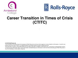 Career Transition in Times of Crisis (CTITC)