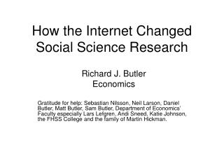 How the Internet Changed Social Science Research