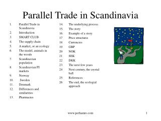 Parallel Trade in Scandinavia